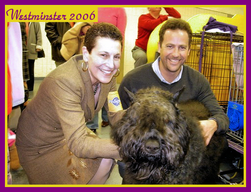 Judy, her son Tim, & Weston at Westminster Kennel Club Show NY 2006